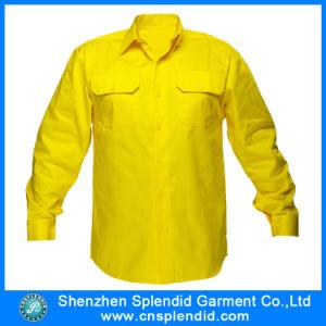 OEM solido Shirt di Color High Visbility Fluo Yellow per Men
