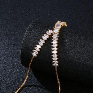 최신 판매 품목 은 색깔 금관 악기 CZ 금 사슬 팔찌