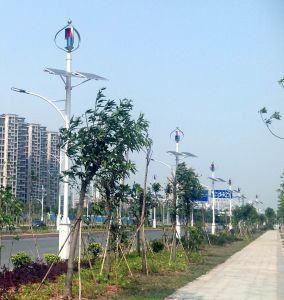 Q1 Q4 tipo 100W 200W 300W de la turbina de viento se combinan con un panel solar para las luces LED