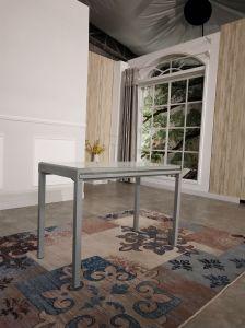 Hogar Muebles de metal Cristal Plaza de la mesa de comedor