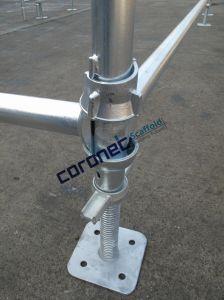 ANSIによって証明される建築材料は足場Cuplockの縦の標準足場を組み立てる