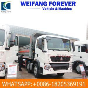 Vrachtwagen van de Stortplaats HOWO van de lage Prijs Goede Voorwaarde Gebruikte 12 de Kipper van Banden 8X4 voor Dr. Congo