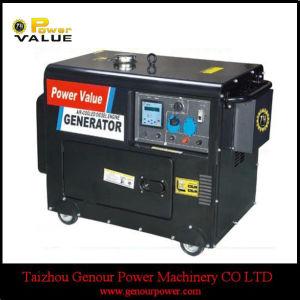5 квт Silent генератор цена 5 КВА звуконепроницаемых портативный дизельный генератор (ZH6500ГД)