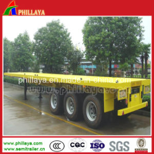 Tri-Asse 40 FT 45FT di prezzi di scossa 60 tonnellate di tipo di scheletro di contenitore di trasporto rimorchio semi