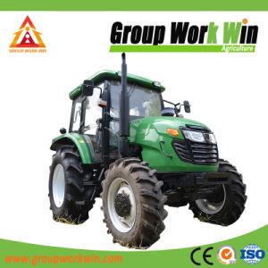 140CV Tractor agrícola 4WD con cargador frontal y retroexcavadora
