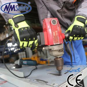 Nmsafety Anti Vibración resistente al corte de absorber el impacto de la construcción herramientas pesadas guante de trabajo