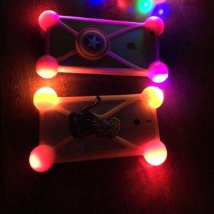 LED Universal de desenhos animados Smart Phone casos antichoque Estrutura Universal Casos