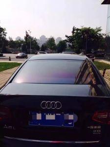 A Rússia camaleão de mercado na janela do carro filme com mudança de cor