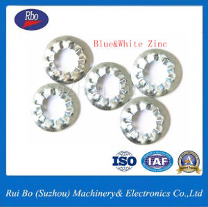 J6798plaqué zinc DIN interne de la rondelle de blocage dentelée rondelles ressort en acier inoxydable de la rondelle de blocage