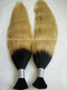 Hot Sale Double appelée Remy Hair Extension en vrac/Virgin sèche