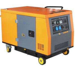 Gx690 10kw電気開始車輪が付いている無声ガソリン発電機