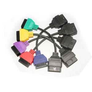Análisis de la ECU para FIAT DIAGNOSTICO OBD Adaptadores de cable de 5 colores