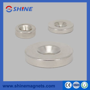 NdFeB avellanados anillo imán con recubrimiento de níquel
