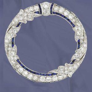 anello di oro bianco 14K con il diamante e la pietra preziosa (LRD1270)