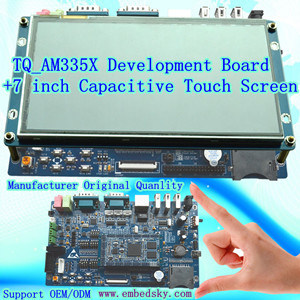 La Junta de Desarrollo de Control Industrial de ti, el Cortex-A8, plataforma de desarrollo, Tq_AM335X la placa base con pantalla táctil capacitiva de 7 pulg.