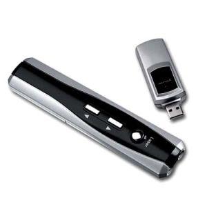 RFの技術のリモート・コントロール無線マウスのUSBのフラッシュディスクドライブが付いているスマートな提出者レーザーのポインター