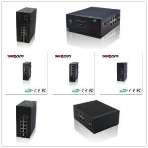 12V 1GX4GE мини Guideway промышленных оптоволоконный коммутатор
