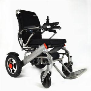 La moda de peso ligero de alimentación portátil plegable silla de ruedas eléctrica