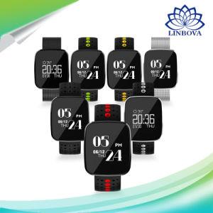 Pulsera Bluetooth V6 IP67 Resistente al agua inteligente de control de frecuencia cardíaca sincrónica ver