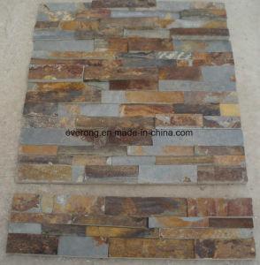 Chinesischer Natürlicher Gelber Rostiger Kultur Stein Mosaik Schiefer Für  Wand Umhüllung