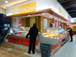 Heißer Nahrungsmittelwärmer-Schaukasten für Supermarkt/Gaststätte