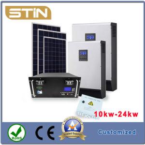 Diseño libre OEM Cutomized 10-24kw fuera de la Red del Sistema Solar para el hogar