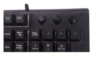 Tastiera di gioco con il pannello frontale di Color&Metal del Rainbow, 19 tasti nessun conflitto