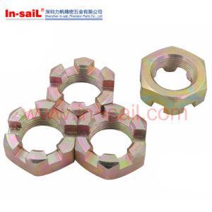 La norme ISO7035, ISO7036, DIN935, les écrous à créneaux à six pans, les écrous crénelés