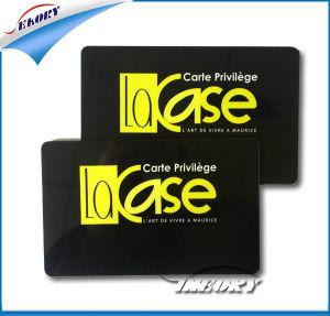 Scheda magnetica di goffratura e nera del PVC personalizzata Stirp