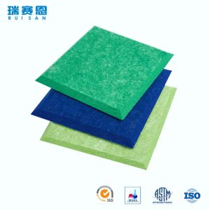 Ignifuge et sain absorber l'écran antibruit de fibre de polyester de matériaux