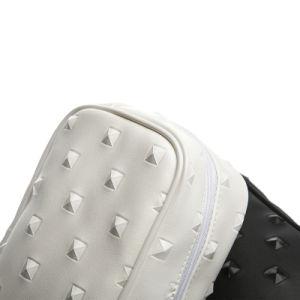2018 Vente chaude PU petit diamant noir et blanc DOT Sac cosmétique sac fourre-tout élégant sac à fermeture éclair