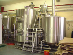 Cervecería/casa cervecera/micro cervecería, vapor Jacket Brew hervidor de agua