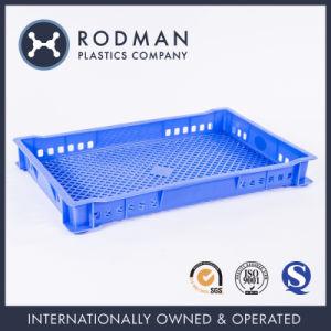 Categoría alimenticia plástica del portamira a través de la placa rectangular de la bandeja del orificio