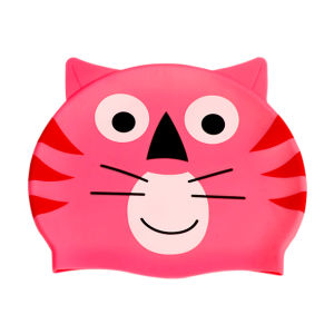 Formato de gato chapéu de Natação de silicone de desenhos animados para crianças