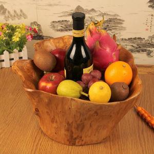 Горячие продажи резных деревянных фруктов высшего качества Flower Pots