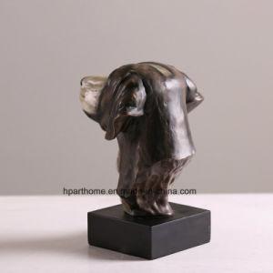 La escultura del jardín de la cabeza de perro Animal estatua de resina figurita de adorno