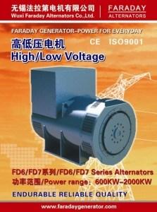 Generatore sincrono senza spazzola di CA di serie Fd7