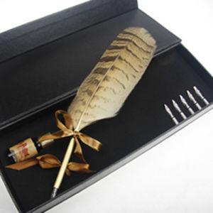 Jeu de plumes dip Owl Feather/stylo plume Promotion/Publicité jeu de plumes plumes &bouteille d'encre&Boîte cadeau
