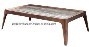 Rectángulo moderna encimera de mármol mesa de café