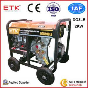 Novo gerador diesel de tipo aberto (Consumo) -2kw