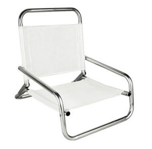 De alta calidad baratos Muebles de Exterior Portable Silla de playa con portavasos
