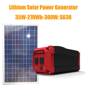 사용 리튬 태양 발전기가 고품질 300W 태양 에너지 시스템 AC/DC/USB 산출에 의하여 집으로 돌아온다