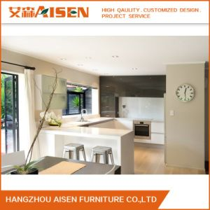 White estilo moderno e pequeno armário de cozinha laca da China