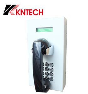 Telefone SIP VoIP fábrica telefone hotline Knzd-05 telefone à prova de LCD