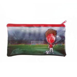 El marco de fotos impresas con cremallera de PVC Bolsa de lápiz/ bolsa de Estudiante