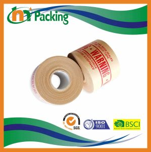 La impresión de logotipo húmedo de agua cinta de papel Kraft reforzado para el embalaje