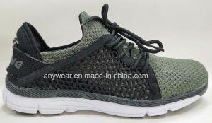 Flyknitting Deportes de la parte superior de calzado de correr de los hombres los zapatos (817-211)