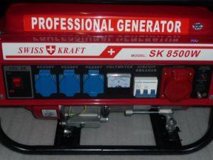 Leistung Value 7.5kw Copper 100% Low Price Schweizer Kraftpapier Style Power 7500W Gasoline Generator