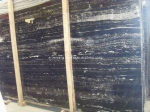 Zwarte Witte Marmeren Plak voor Muur/Bevloering/Countertop (YY - MS002)