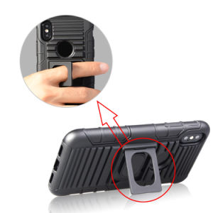 iPhone Xのためのカスタマイズされた印刷された車のホールダーベルトクリップホルスターのKickstandの電話箱
